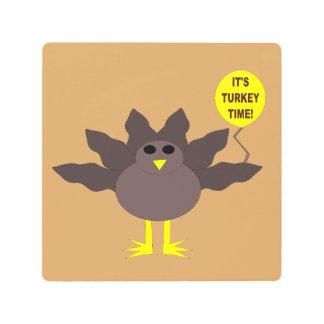 Turkey Time Thanksgiving Metal Wall Art Print