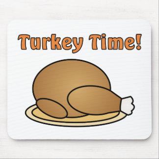 Turkey Time Thanksgiving Mousepad