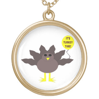 Turkey Time Thanksgiving Necklace