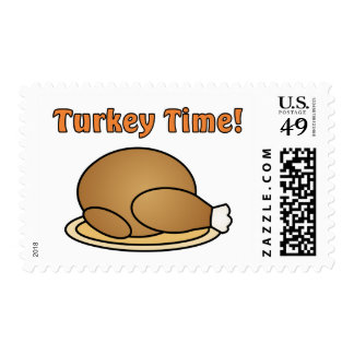 Turkey Time Thanksgiving Postage