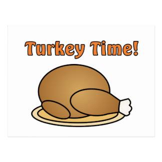 Turkey Time Thanksgiving Postcard