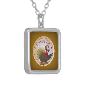 Turkey Time [Thanksgiving] Silver Plated Necklace