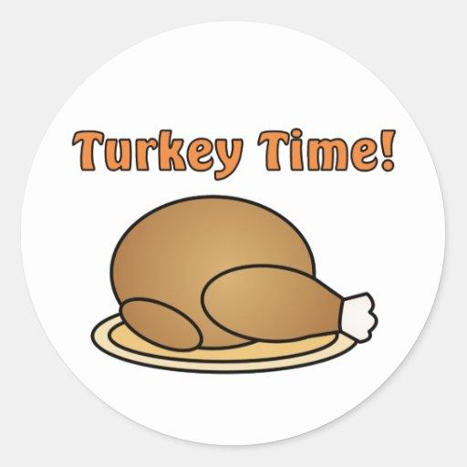 Turkey Time Thanksgiving Sticker