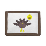 Turkey Time Thanksgiving Wallet