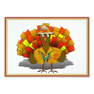 Turkey Tourist on Vacation Custom Invite
