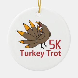 TURKEY TROT CERAMIC ORNAMENT