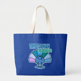Turkey Tryptophan Junkie Thanksgiving Design Tote Bags