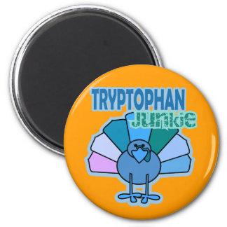 Turkey Tryptophan Junkie Thanksgiving Design Magnet