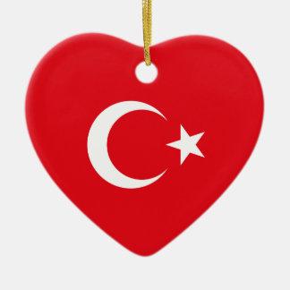 Turkey – Turkish Flag Ceramic Ornament