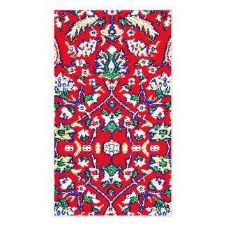 Turkey Turkish Textile Cloth Rug Pattern Business Card Template