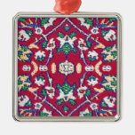 Turkey,Turkish,Textile,Cloth,Rug Pattern Muted Red Christmas Ornaments