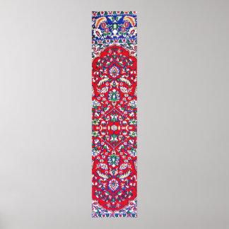 Turkey,Turkish Textile Cloth Rug Pattern Poster
