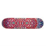 Turkey,Turkish Textile Cloth Rug Pattern Custom Skateboard