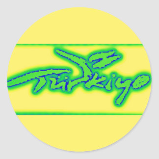 Turkey,Turkiye,Turkish Logo,Lime Green,Yellow,Blue Classic Round Sticker