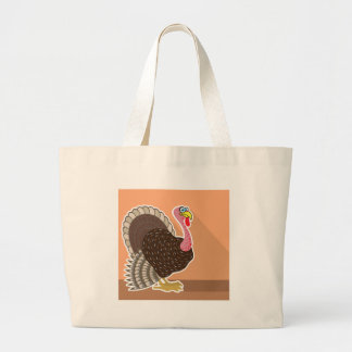 Turkey Vector Large Tote Bag