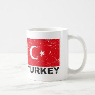 Turkey Vintage Flag Classic White Coffee Mug