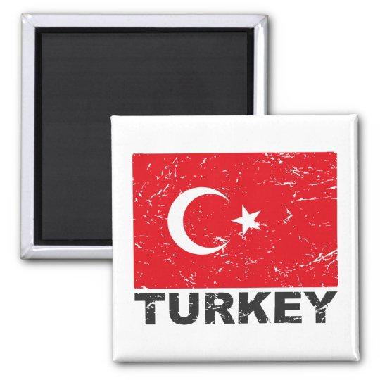 Turkey Vintage Flag Magnet