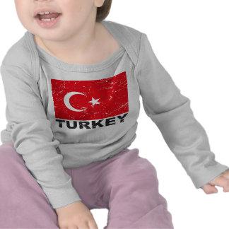 Turkey Vintage Flag Tee Shirts