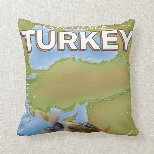 Turkey vintage travel poster throw pillow Zazzle