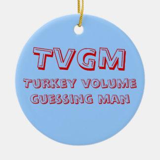 Turkey Volume Guessing Man Christmas Tree Ornaments