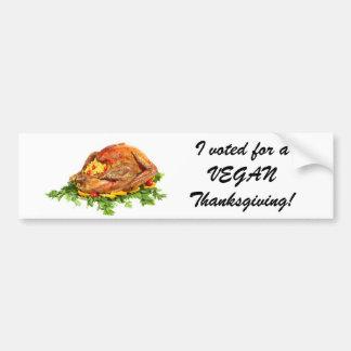 Turkey votes vegan sticker bumper sticker