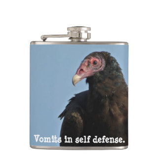 Turkey Vulture Flast Hip Flask