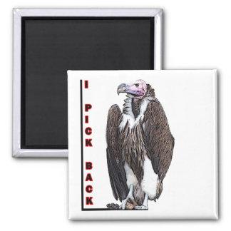 Turkey Vulture I Pick Back Posterized Photo 2 Inch Square Magnet