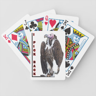 Turkey Vulture I Pick Back Posterized Photo Bicycle Playing Cards