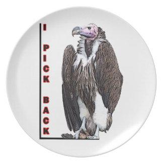Turkey Vulture I Pick Back Posterized Photo Dinner Plate
