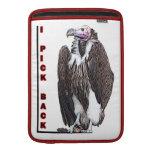 Turkey Vulture I Pick Back Posterized Photo MacBook Sleeve