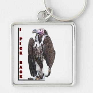 Turkey Vulture I Pick Back Posterized Photo Keychains