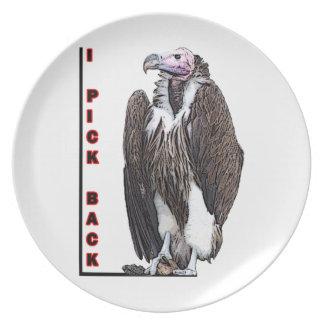 Turkey Vulture I Pick Back Posterized Photo Melamine Plate
