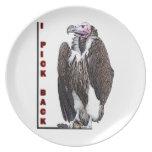 Turkey Vulture I Pick Back Posterized Photo Dinner Plates
