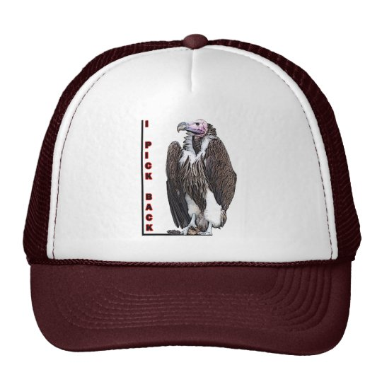 Turkey Vulture I Pick Back Posterized Photo Trucker Hat