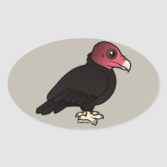 Turkey Vulture Oval Sticker