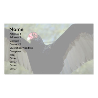 Turkey vulture spreading large wings Double-Sided standard business cards (Pack of 100)