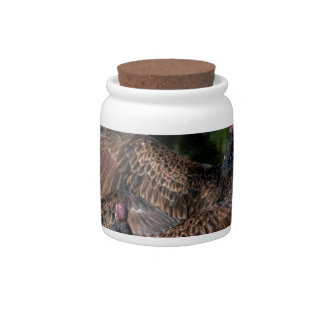 Turkey Vultures With Spread Wings Candy Jar
