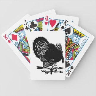 Turkey Weathervane Bicycle Playing Cards