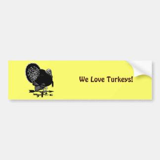 Turkey Weathervane Bumper Sticker