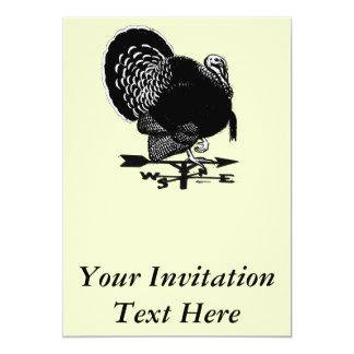 Turkey Weathervane Card
