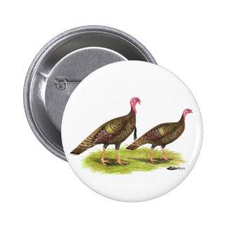 Turkey:  Wild Bronze Button