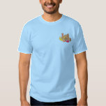 Turkey with leaves embroidered T-Shirt