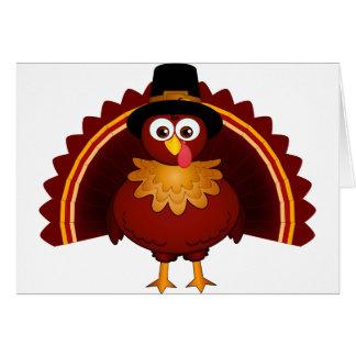 Turkey with Pilgrim hat Card