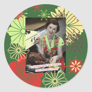 Turkey Witty Housewives Retro Stickers