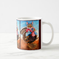 Turkey-wrangler Cowboy Cat mug