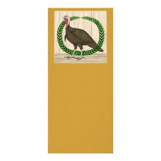 Turkey Wreath Customized Rack Card