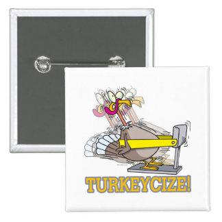 Turkeycize que ejercita el dibujo animado del pavo pins
