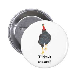 Turkeys are cool, pointillism pin on buttons
