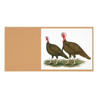 Turkeys:  Chocolate Card
