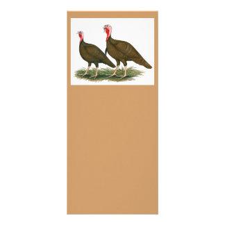 Turkeys:  Chocolate Rack Cards